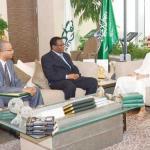 Alwaleed Bin Talal with the Ethiopian ambassador
