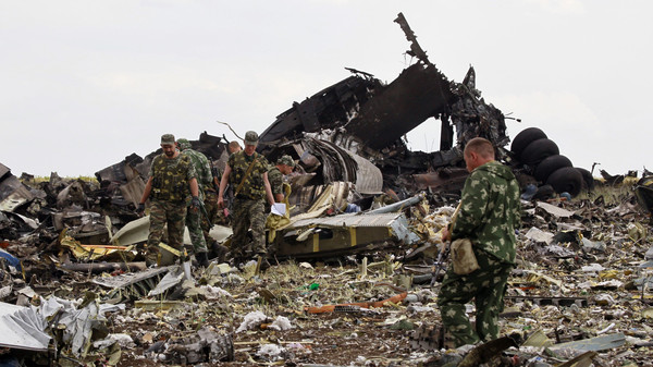 A Ukrainian fighter jet was flying close to the Malaysian passenger airliner just before it crashed, Russia says.