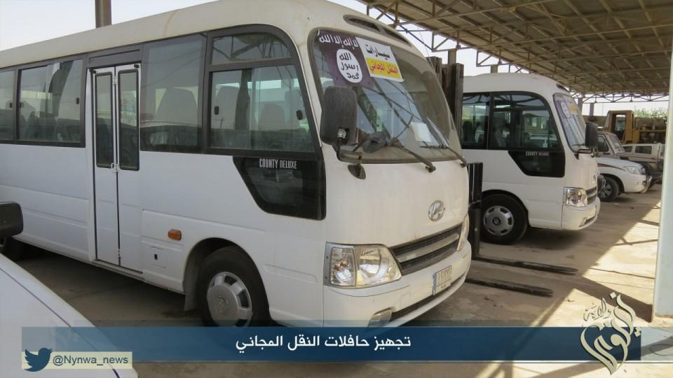 Bus tour in Mosul by ISIS 2