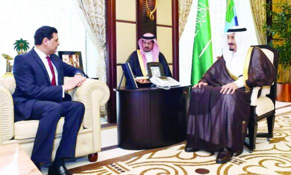 Crown Prince Salman receives Pakistan's Ambassador Muhammad Naeem Khan, who is also the assistant secretary-general of the OIC on Tuesday.