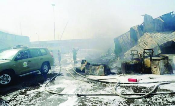 Sunday's devastating fire destroyed some 40 percent of the stores in Dammam's public market.