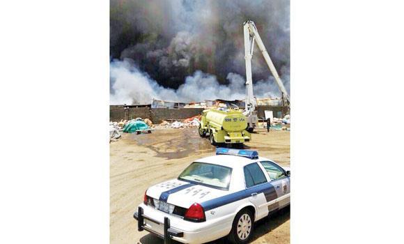 Fire in warehouse in Jeddah