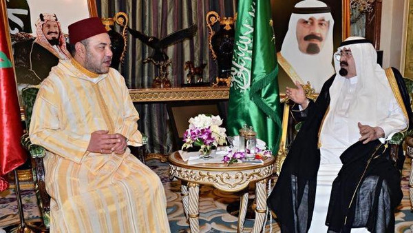 Custodian of the Two Holy Mosques King Abdullah bin Abdulaziz Al Saud met Moroccan King Mohammed VI in the coastal city of Jeddah. (Photo courtesy of SPA)