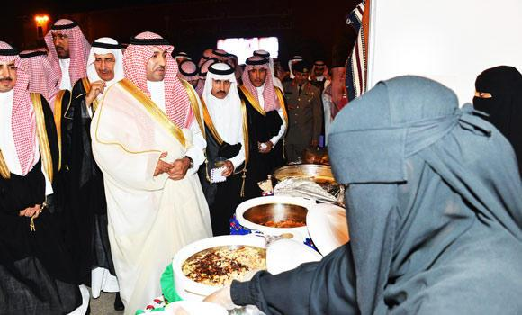 Riyadh governor Prince Turki bin Abdullah launches women only venue as part of Eid celebrations organized by Riyadh Municipality in Riyadh. (SPA)