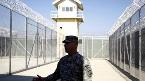 A photo of the Bagram Prison in Afghanistan.