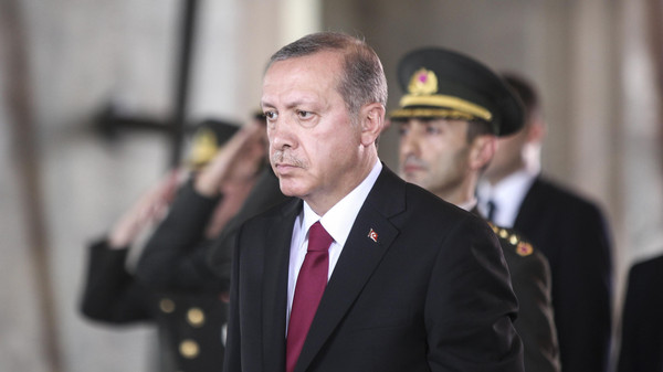 Erdogan swore to safeguard the 'existence and independence of the state.