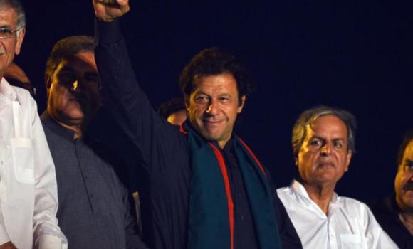 Pakistani opposition politician Imran Khan.