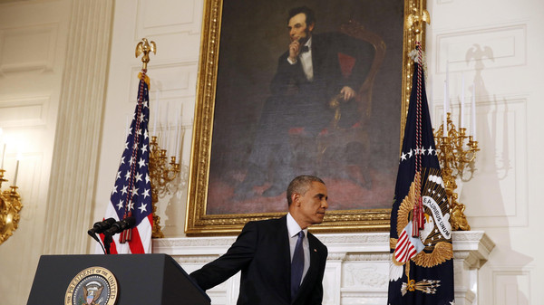President Obama said late Thursday that there was no U.S. military solution for Iraq's crisis.
