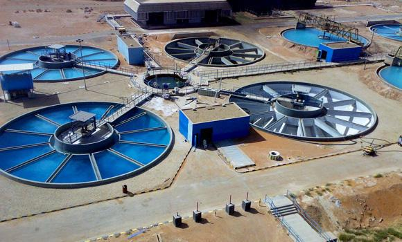 A water storage facility in Riyadh is shown in this picture released by the Saudi Press Agency (SPA) on Saturday.