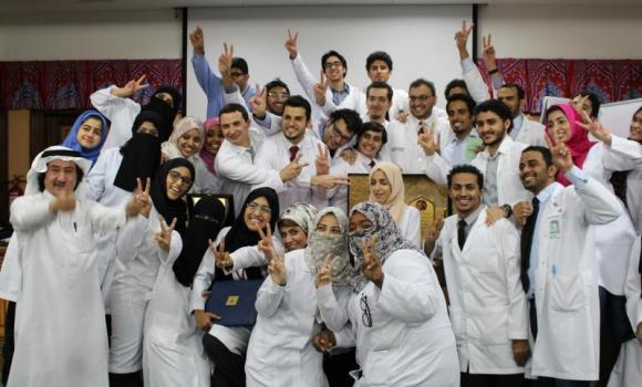 The medical students pose for a group photo on completion of their training.