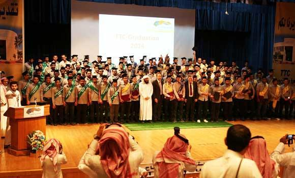 In this file photo, a total of 116 young Saudi students graduated from the Technical Trainers College (TTC) in Riyadh.