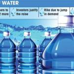 Bottled water to cost more