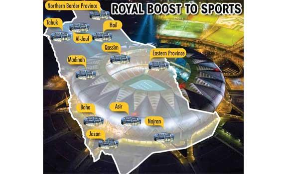 Saudi Aramco will begin building 11 new state-of-the-art stadiums in January, the oil giant announced on Tuesday.