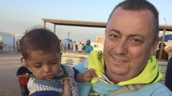 An undated family handout photo of British aid worker Alan Henning taken at a refugee camp on the Turkish-Syria border. Islamic State militants fighting in Iraq and Syria released a video on September 13, 2014.