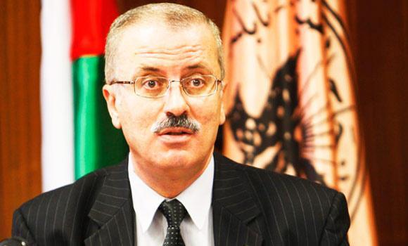 Palestinian Prime Minister Rami Al-Hamdallah.