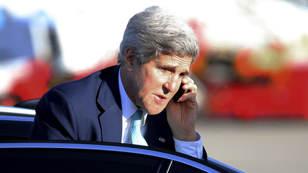 The U.S. Secretary of State is to meet with the Palestinian negotiator in Washington to discuss the situation.