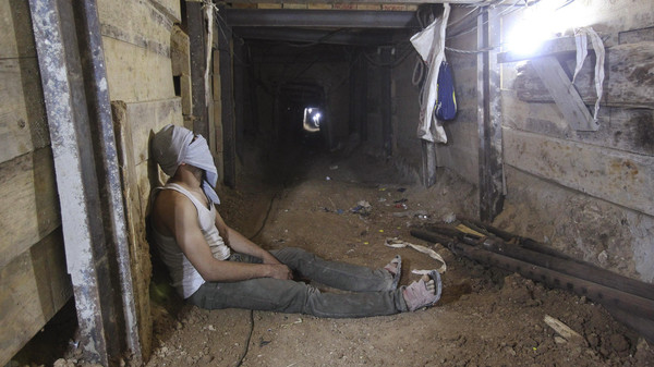 Egypt's army says it has destroyed more than 1,600 tunnels connecting the Sinai Peninsula and the Gaza Strip.