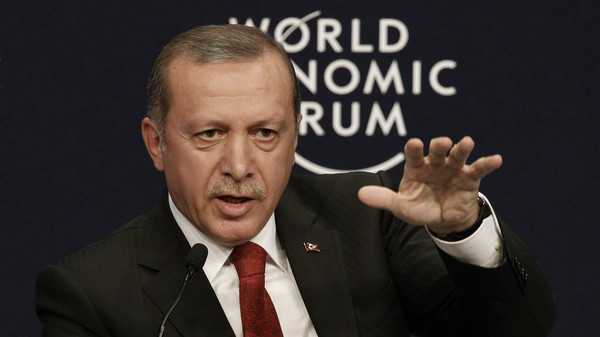 Turkey's President Tayyip Erdogan speaks during the World Economic Forum Special Meeting on Unlocking Resources for Regional Development in Istanbul September 28, 2014.