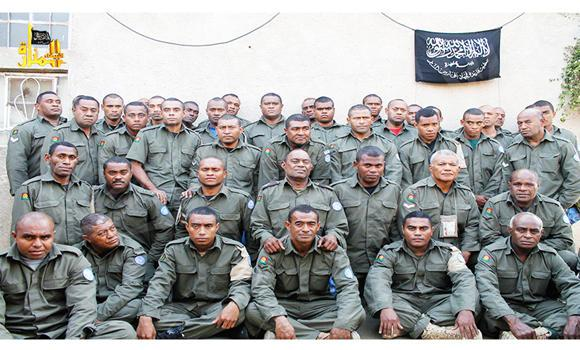 This undated file image attached in a statement released on Aug. 30, 2014 on the Hanin Network website, a militant website, shows Fijian UN peacekeepers who were seized by The Nusra Front on Aug. 28, 2014, in the Golan Heights in the buffer zone between Syria and Israel. Fiji confirmed Thursday that soldiers shown in a new video posted online are its 45 United Nations peacekeepers being held captive in Syria.