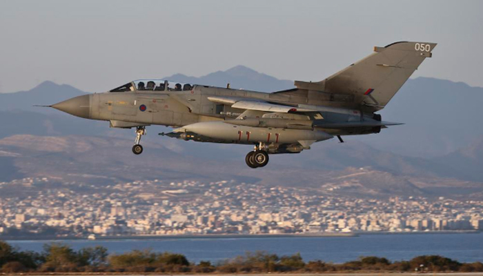 A British Tornado jets launched their first airstrikes against ISIS positions in Iraq.