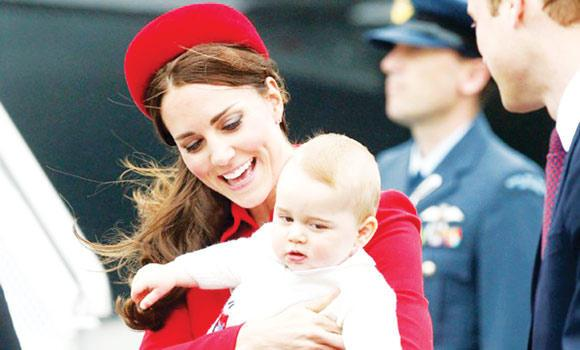 Duchess Catherine with son Prince George.