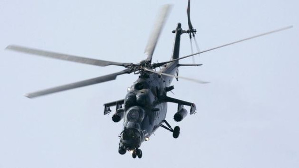 An official said ISIS militants downed an Iraqi Mi-35 helicopter between the towns of Beiji and al-Senniyah.