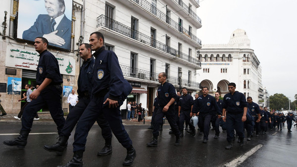 Three days of police protests took place in Algeria where all demonstrations are banned.