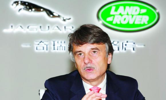 Ralf Speth, CEO of Jaguar Land Rover, speaks at media round table in China.