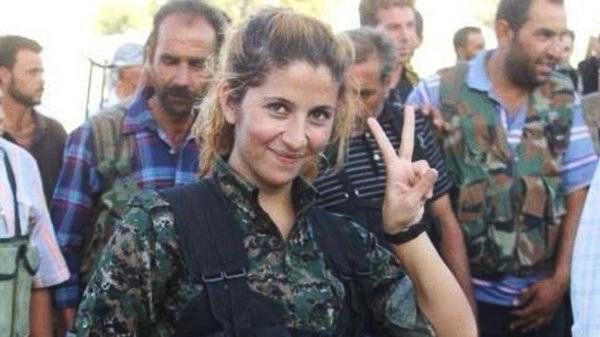 Rehana, as she is known as, poses in this undated picture that went viral on Twitter, catapulting her to being the face of Kurdish resistance in Kobane.