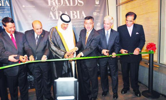 SCTA President Prince Sultan bin Salman opens the Saudi exhibition in San Francisco. (SPA)