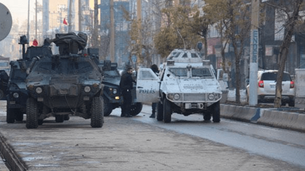 The three soldiers were shot dead on the street in the town of Yuksekova in Hakkari province of Turkey's extreme southeast bordering Iraq and Iran.