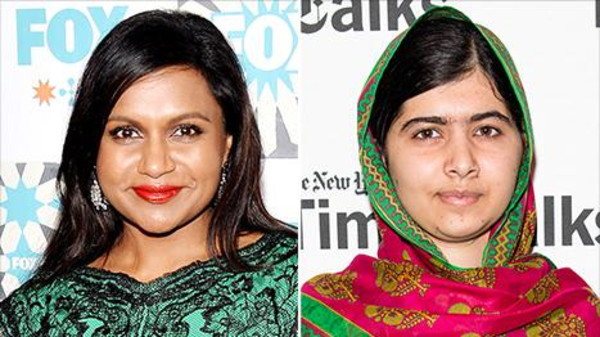 Though her fans may think she's worthy of many awards, U.S. comedian Mindy Kailing (L) is yet to receive a Nobel Peace Prize.