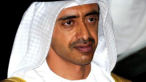 UAE's Foreign Minister Sheikh Abdullah bin Zayed al-Nahayan.