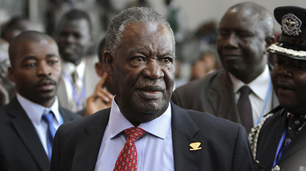 Zambia's President Michael Sata speaks to journalists at the 18th African Union (AU) summit in Addis Ababa in 2012.