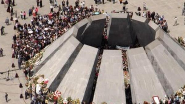 Armenian genocide memorial in Yerevan.