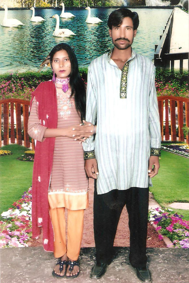 This undated family handout photo received on Nov.5, 2014 shows the Christian couple who were killed by a Muslim mob in Kot Radha Kishan.