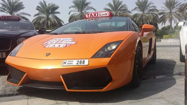 Get dropped off in style as Dubai's taxi service celebrates the Dubai Motor Festival.