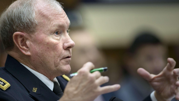 Chairman of the Joint Chiefs of Staff Gen. Martin Dempsey arrived in an unannounced visit to Iraq on Saturday.