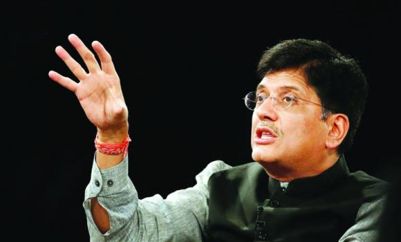 India's Power Minister Piyush Goyal speaks during the India Economic Summit 2014 at the World Economic Forum in New Delhi.