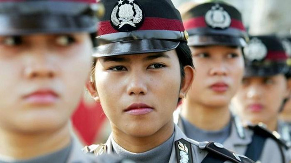 Indonesian women currently make up about three percent of the 400,000-strong police force.