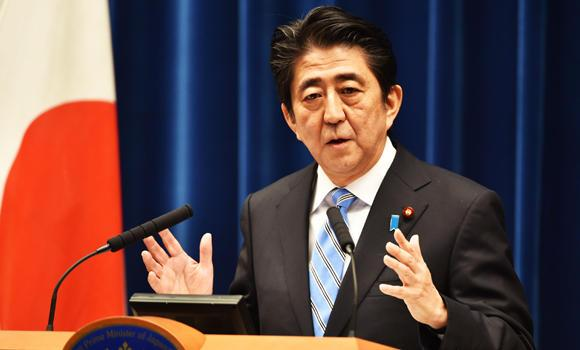 Japan's Prime Minister Shinzo Abe speaks during a press conference at his official residence in Tokyo on Tuesday.