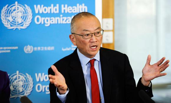 Keiji Fukuda, WHO Assistant Director-General, Health Security and Environment, from the US speaks during a press conference about the World Health Organization, WHO, at the headquarters of the WHO in Geneva, Switzerland, in this Oct. 23, 2014 photo.