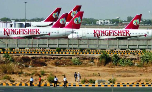 Kingfisher Airlines' passenger jets are seen parked at an airport in New Delhi, in this file picture taken in 2012.