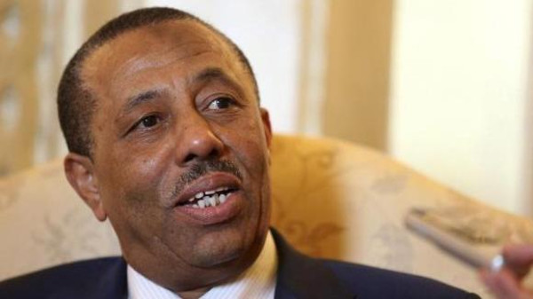 Libyan PM Abdullah Al-Thinni arrived as a suicide bombing killed at least one person and wounded 20 in the town of Tobruk, close to the Egyptian border.