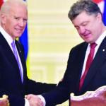 Biden in Ukraine as tensions rise