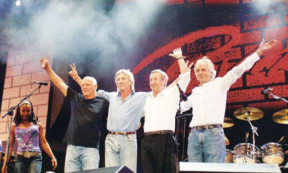 British rock band Pink Floyd, from left, David Gilmour, Roger Waters, Nick Mason and Richard Wright.