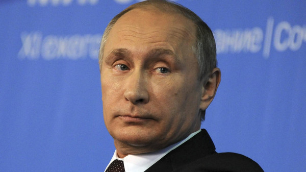 Russia's President Vladimir Putin attends a meeting at the Valdai Discussion Club in Sochi, October 24, 2014.