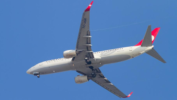 The Turkish Airlines Boeing 737 (similar to the one pictured) had been flying from Frankfurt to Istanbul when panicked passengers saw oxygen masks fall from the ceiling.