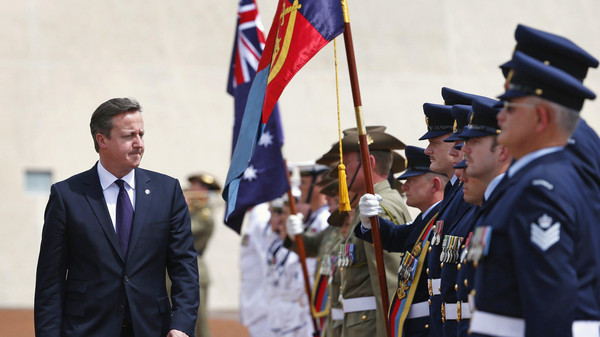 "UK Prime Minister David Cameron said ""new powers for police at ports to seize passports"" of radicalized Britons will begin in a speech to Australia's parliament in Canberra."