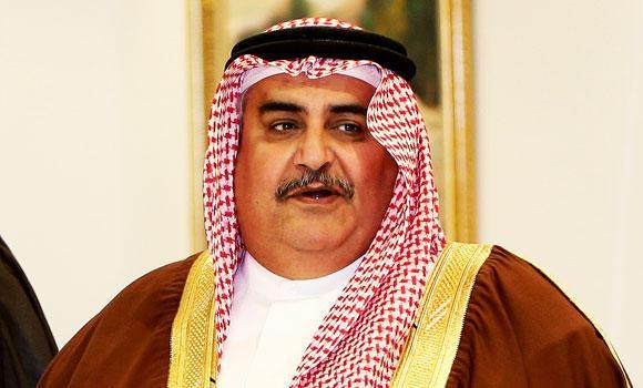 Bahrain's Foreign Minister Sheikh Khalid Al-Khalifa.